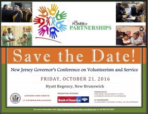 Save the Date NJ GOV Volunteerism Conference 2016
